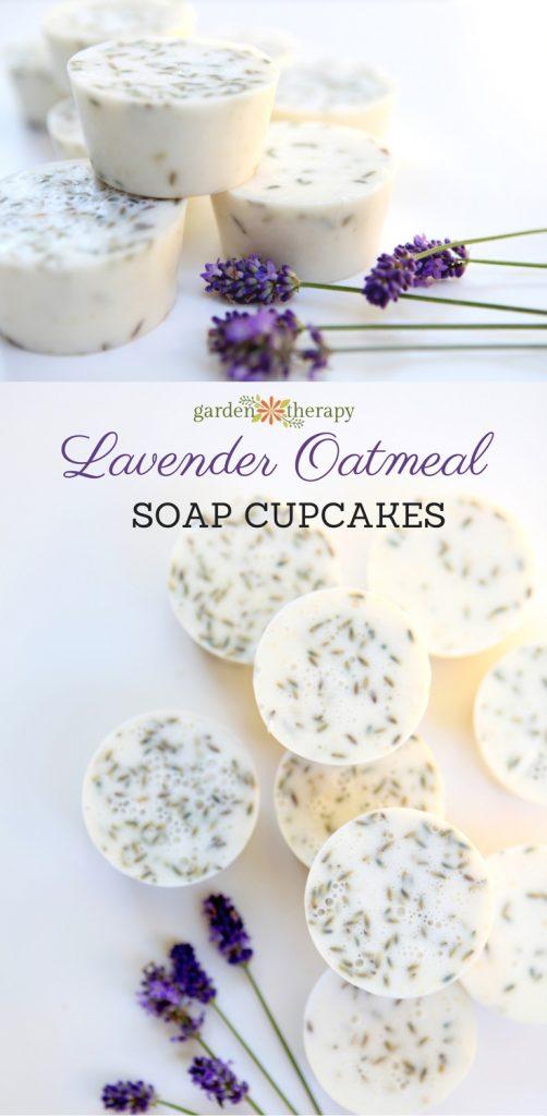 Lavender Oatmeal Soap Cupcakes