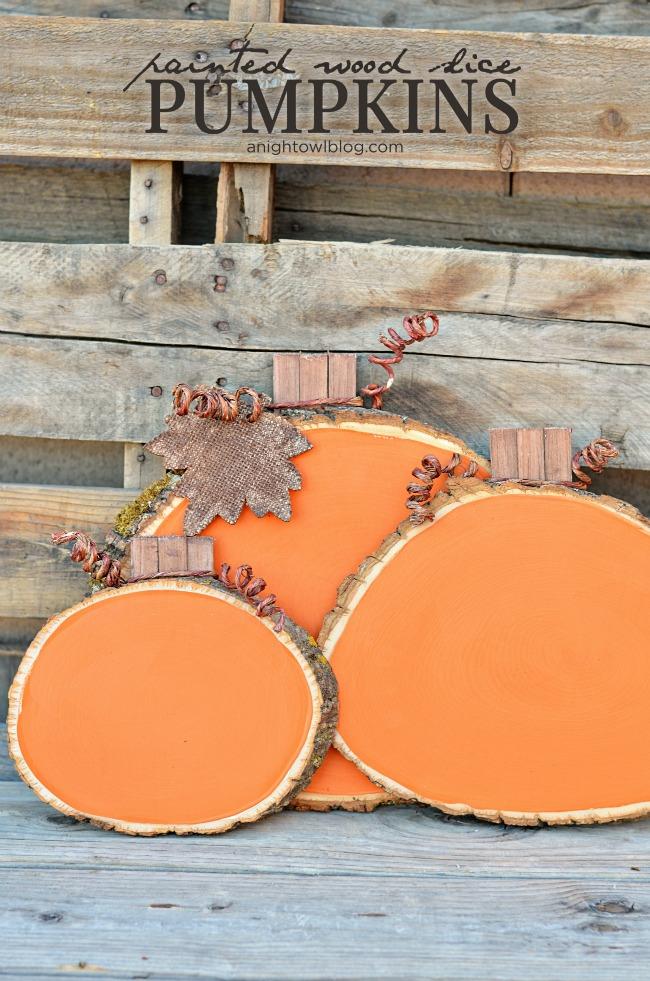 DIY Rustic Fall Decor | Painted Reclaimed Wood Pumpkins