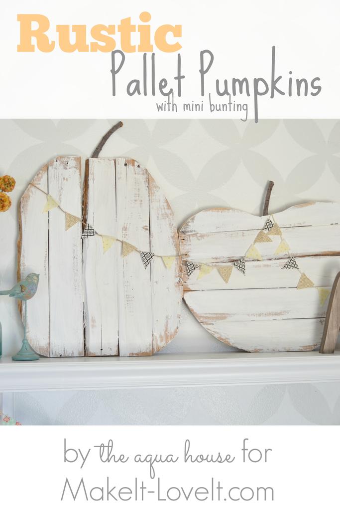 Rustic Pallet Pumpkin DIY Fall Decor Idea