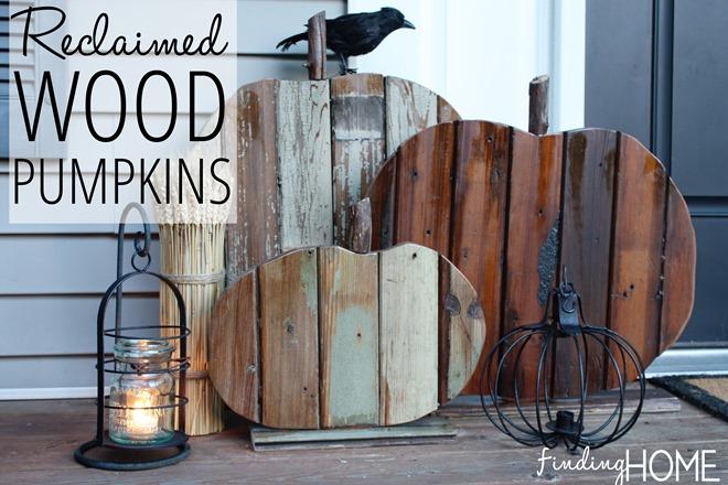 Reclaimed Wood Pumpkins | Rustic Fall Home Decor Ideas