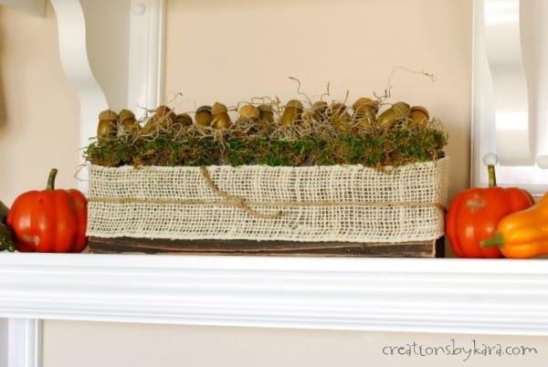 DIY Rustic Fall Decor | Centerpiece Idea