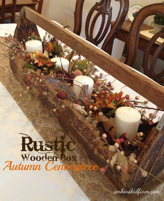 Rustic Wooden Centerpiece | Fall Decor DIY Ideas