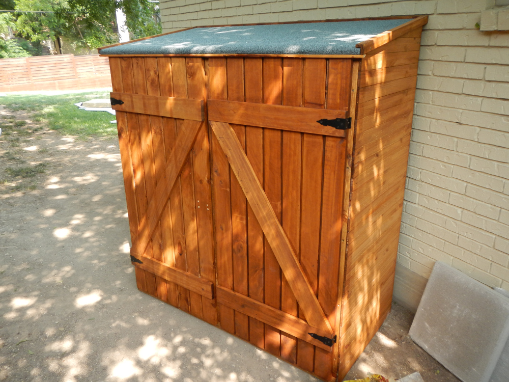 DIY Assembled Shed on Side of House