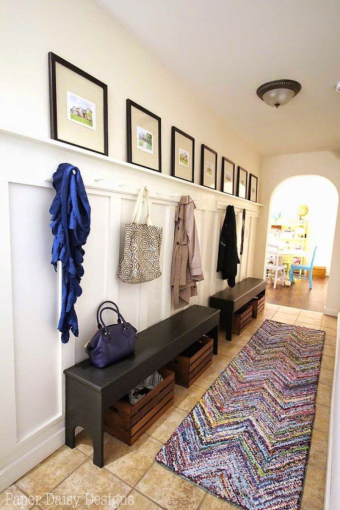 Southern Home Mudroom Entryway Renovation Before & After