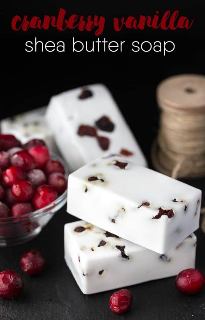 Cranberry Vanilla Soap DIY