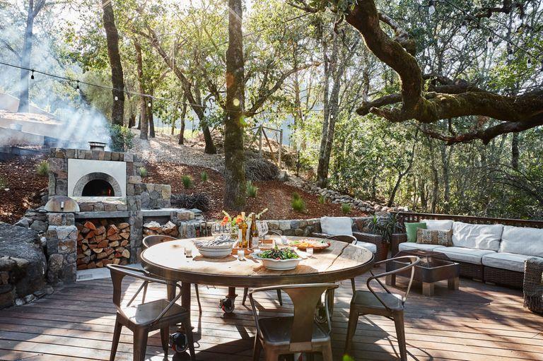 Woodsy and Rustic Backyard Kitchen