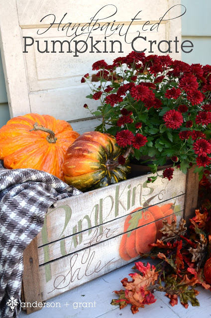 Hand Painted Rustic Pumpkin Crate DIY Idea