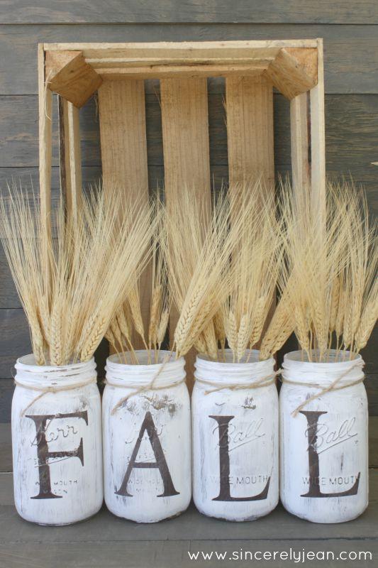 DIY Rustic Fall Decor | Autumn Mason Jars