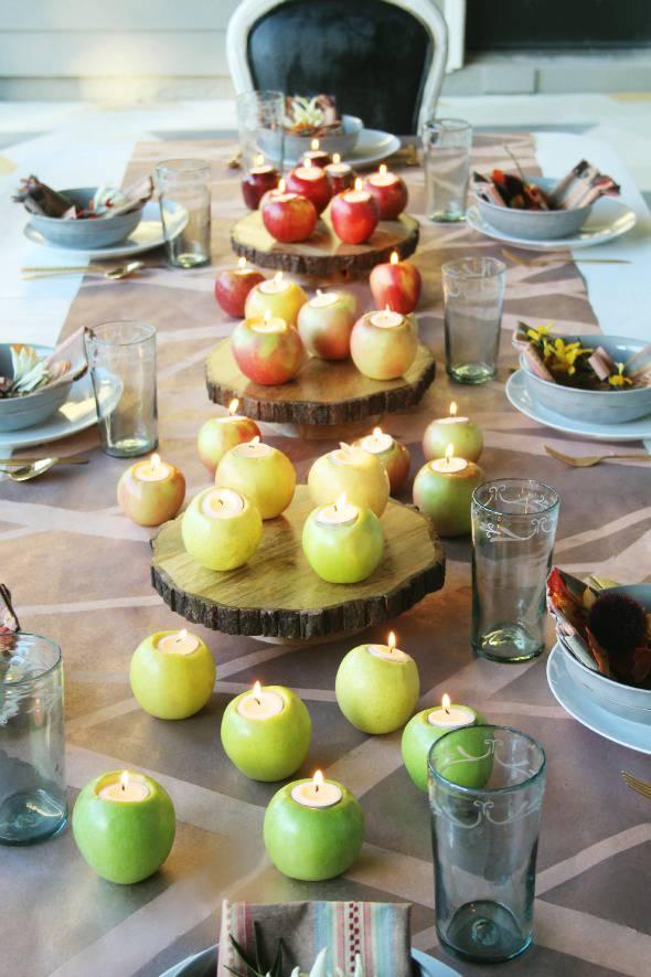 Apple Centerpiece for a Fall Wedding