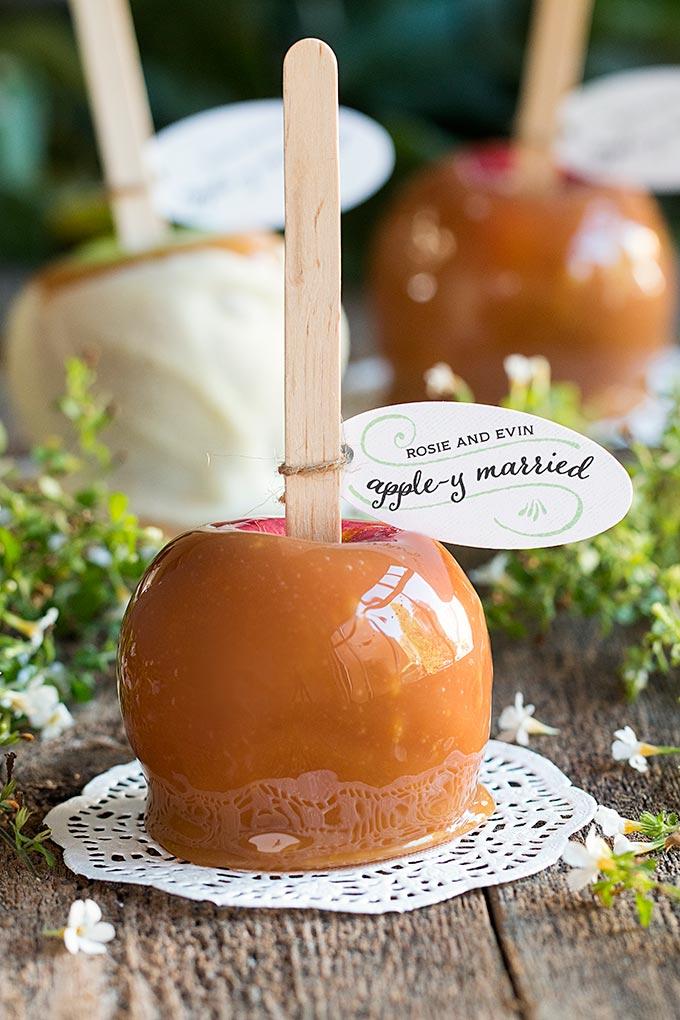 Caramel Apple Fall Wedding Party Favors