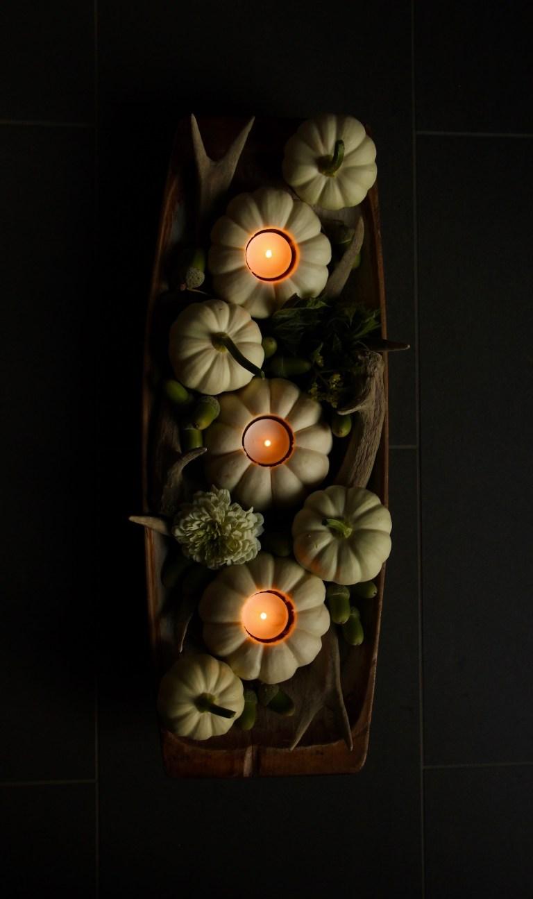 Mini Pumpkin Tealight Centerpiece DIY