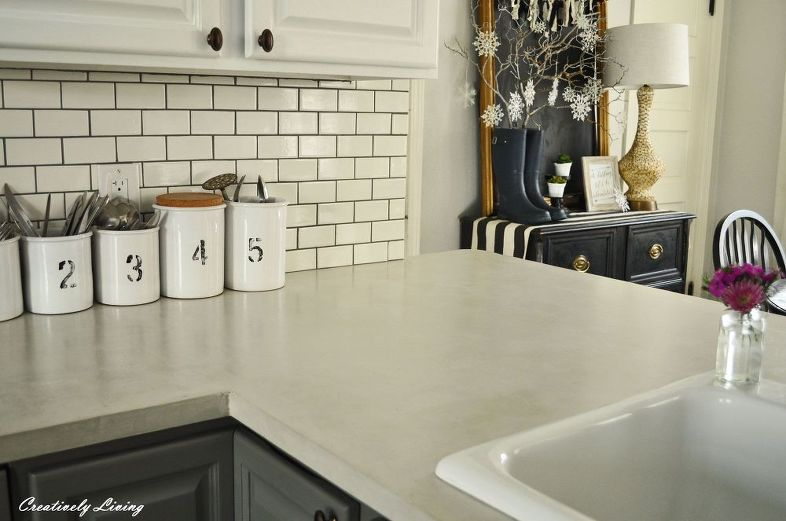 DIY Concrete Counter Overlay