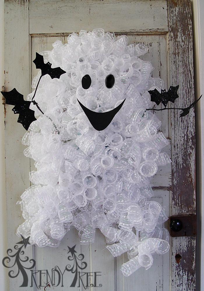 Ghost Wreath DIY