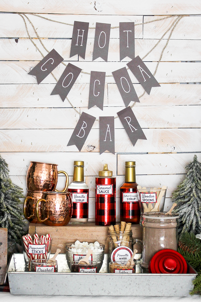 Hot Cocoa Drink Station for Fall Wedding DIYs