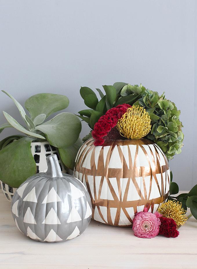 Metallic Wedding Pumpkin Decor for Fall
