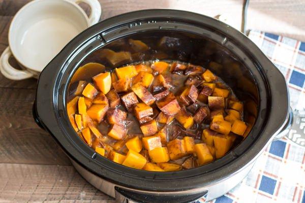 Cinnamon Sugar Butternut Squash Slow Cooker Recipe