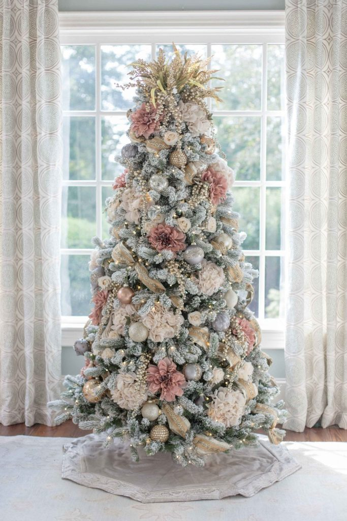 Pink Silver And Gold Christmas Decorations Novocom Top